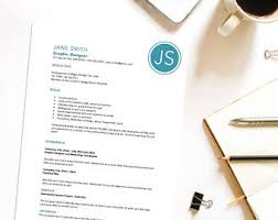 resume cover letter etsy