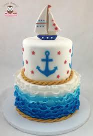 nautical cake ahoy its a boy cake baby shower cake nautical