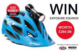 best helmet mounted light win an exposure equinox mbr