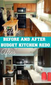 cost to gel stain kitchen cabinets before after kitchen remodel for 65