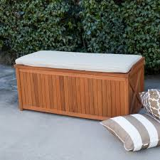 Patio Storage Chest by Coral Coast Parkway 47 In Outdoor Wood 70 Gallon Storage Deck Box