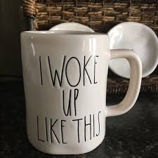 rae dunn mug rae dunn i woke up like this mug os from deidre s closet on