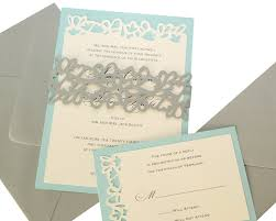 invitation kits petal cutout wedding invitations wrap design gray pool