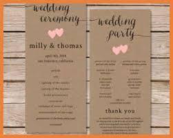 what is a wedding program wedding program exles sop