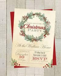 christmas party invitation printable holiday celebration digital