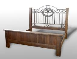 Antique King Bed Frame 1920s Deco Vintage Antique King Bed Frame With Wrought Iron