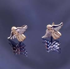 andralok earrings 9ct gold angel andralok studs span style font size 10px color