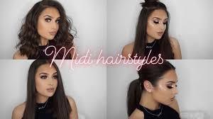 midi haircut midi length hairstyles simple easy youtube