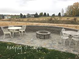 the fire pit how to build a diy fire pit for only 60 keeping it simple crafts