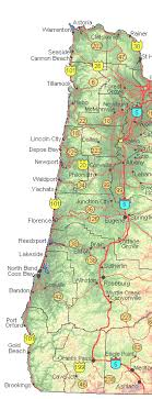 map of the oregon coast maps of oregon for sale highways and byways of oregon backroads