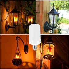 why led light bulbs flicker flame effect fire light bulbs 2 modes creative with flickering
