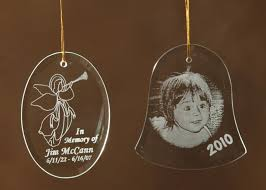 personalized glass ornaments glass engraving etches in