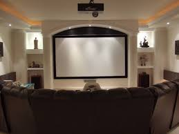 elegant idea of cool home theater rooms designed by curved black