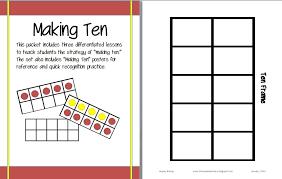 ten frame template 10 frames activities free 10 frames frog