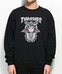 thrasher clothing stickers zumiez