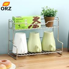 Desk Organizer Shelves Aliexpress Com Buy Orz L Shape Stainless Steel Storage Rack