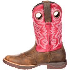 rocky lt women u0027s brown cherry pink saddle western boots