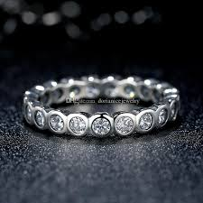 large silver rings images Alluring brilliant pandora style large round eternity silver ring jpg
