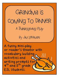 thanksgiving mini play and vocabulary building activities for 3 5