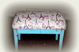 Shabby Chic Used Furniture by Sold Shabby Chic Style Upholstered Bench A Night In Paris Okc