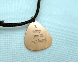 engrave a necklace engraved guitar necklace boyfriend gift husband gift