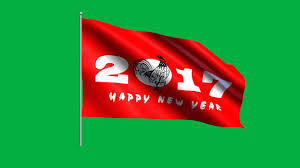 How To Draw A Waving Flag Happy New Year 2017 Waving Flag Chroma Key Green Screen Animation