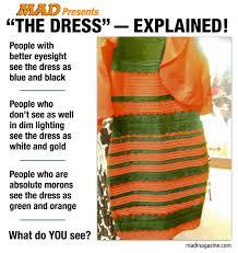 Dress Meme - the dress explained mad magazine