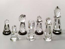 strass swarovski crystal chess set