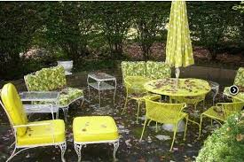 Wrought Iron Patio Furniture Vintage Vintage Outdoor And Always Decorate With Fresh Flowers Vases Of