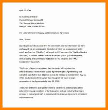 doc 707951 business letter of intent sample template u2013 letter of