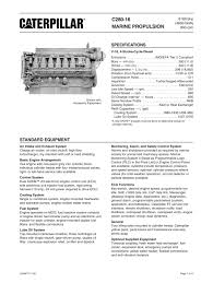 cat c280 16 spec sheets caterpillar marine power systems pdf