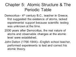 Atomic Structure And The Periodic Table Worksheet Answers by Chapter 5 Atomic Structure U0026 The Periodic Table Ppt Download