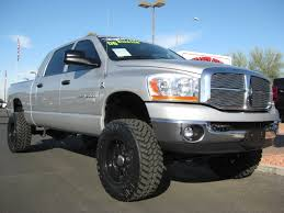 dodge truck for sale dodge ram truck silver lifted oversize tires dodge trucks