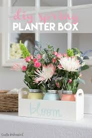 mason jar home decor ideas diy planter box for spring consumer crafts