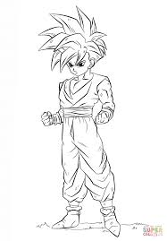 dragon ball z coloring pages inside gohan eson me