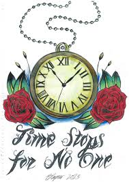 simple clock tattoo designs clock and roses by tattoo flash of