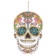 bulk die cut day of the dead skull decorations at dollartree