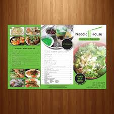 serious modern menu design for emily huynh by theblueart design