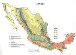 Mexican Map Mexican Climate Map Mexico U2022 Mappery
