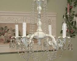 shabby chic chandelier etsy
