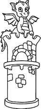 dragon front castle coloring wecoloringpage