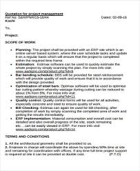doc 736952 project quotation template u2013 doc649416 project