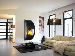 impressive rocks fireplace design standing dark wood flooring