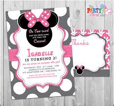 minnie mouse 1st birthday invitations printable girls party