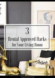 3 rental approved hacks for the living room domicile 37