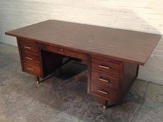 Mid Century Modern Office Desk Student Or Apartment Desk Up Cycled In Periwinkle Mid