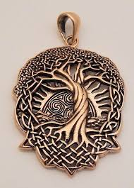 solstice tree pendant bronze celtic tree pagan wicca druid