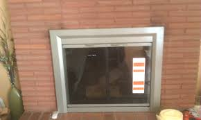 fireplace replacement glass toronto doors zero clearance for gas