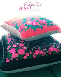 Upcycled Pillows - upcycled babushka scarf pillows diy jungalowjungalow