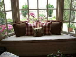 living room beautiful trapezoid window seat cushions with brown
